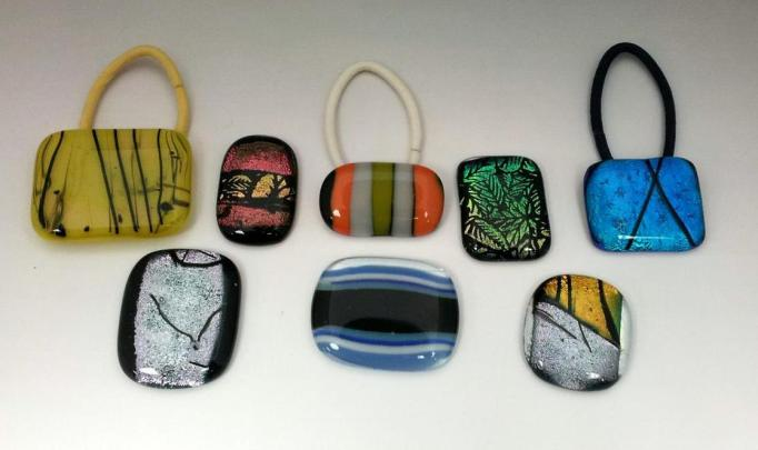Fused Glass Ponytail Holder