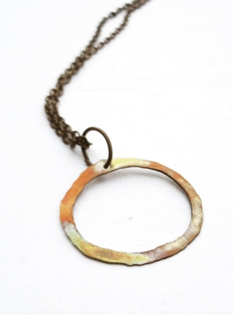 Annealed Copper Necklace