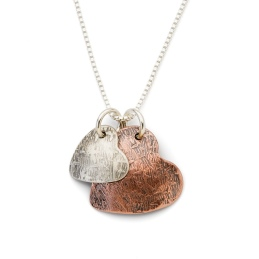 Copper Two Heart Necklace