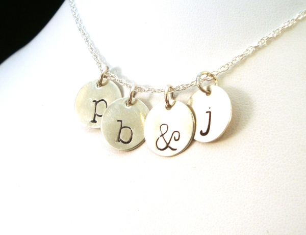 Hand-stamped Initial Charm Set