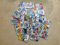Recycled License Plate Wall Hanging