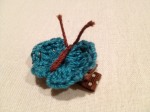 Hand-crocheted Butterfly Hairclip