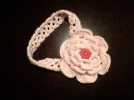 Hand-crocheted Pink Layered Flower Headband