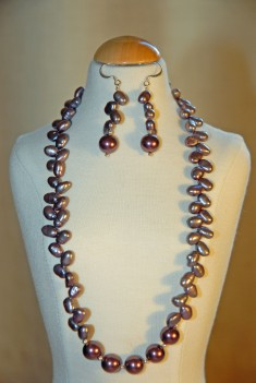 Pearl Temptation Necklace and Earring Set