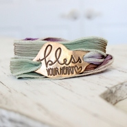 Bless Your Heart Wrap Bracelet