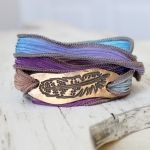 Bronze Feather Wrap Bracelet