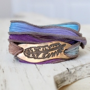 Bronze Feather Wrap Bracelet