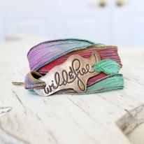 Wild & Free Silk Wrap Bracelet