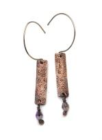 Copper Hoarfrost Earrings