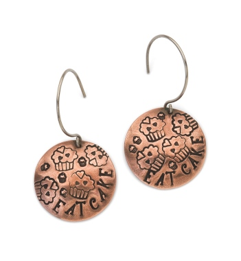 Copper Collage Earrings