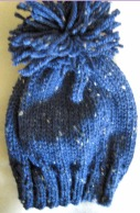 Hand Knit Beanie with Pom Pon