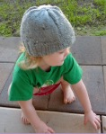 Hand Knit Tweed Baby Beanie