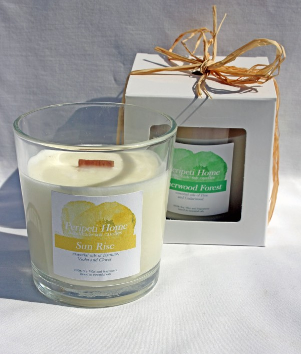 Hand-poured Soy Candle, Wooden Wick