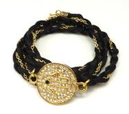 Satin & Chain Wrap Bracelet