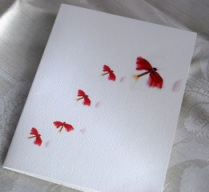 Red Firefly Folded Note Card Set