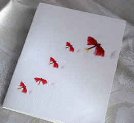 Red Firefly Folded Note