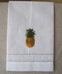 Pineapple Irish Linen Tea Towel