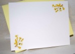 Yellow Forsythia Flat Note Card Set