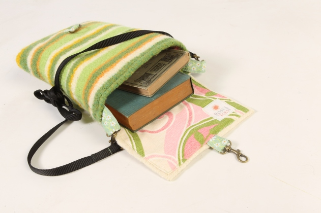 Felted Wool Explorer Bag, Striped