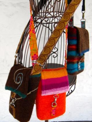 Mini Felted Wool Messenger Bag