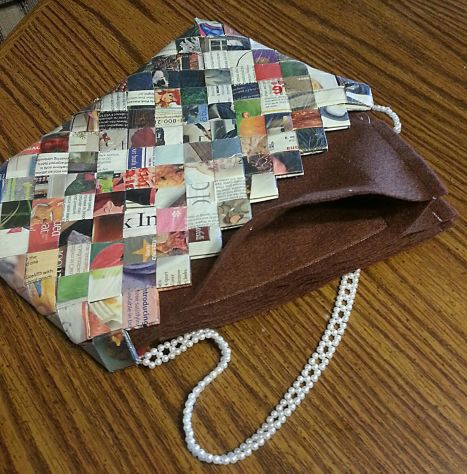 Upcycled Print Magazine Purse