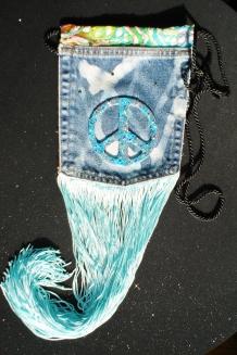 Denim Peace Bag