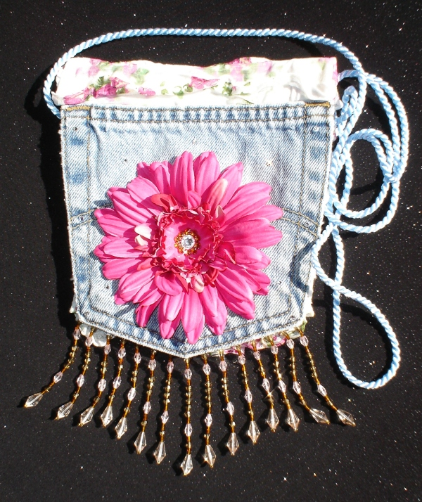 Denim Jewel Bag