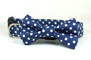 Dog Collar with Bow Tie