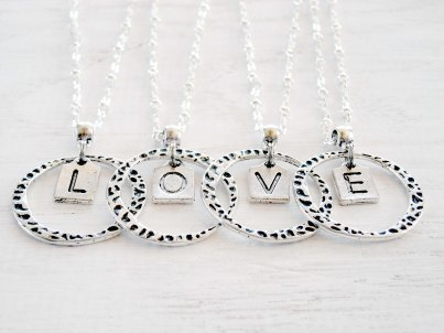 Love Letters Monogram Pendants