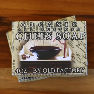 Chef Soap Old Factory on Teak