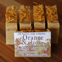 Orange & Clove Organic Goats Milk Old Factory Soap